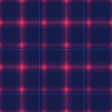 Tartan. Seamless checkered pattern.Pink cage on a dark blue background. Stock Photo