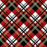 Tartan Seamless Pattern Background. Black, Red and White Plaid, Tartan Flannel Shirt Patterns. Trendy Tiles Vector Illustration fo. R Wallpapers. eps 10 stock illustration