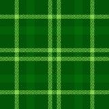 Plaid tartan seamless pattern. Green color. Scottish, lumberjack and hipster fashion style. Royalty Free Stock Photo