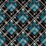 Tartan Seamless Pattern Background. Red, Black, Blue, Beige and White Plaid with snowflake, Tartan Flannel Shirt Patterns. Trendy. Tiles Vector Illustration for royalty free illustration