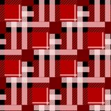 Tartan Seamless Pattern Background. Red, Black and White Plaid, Tartan Flannel Shirt Patterns. Trendy Tiles Vector Illustration fo royalty free illustration
