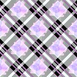 Tartan Seamless Pattern Background. Ultra violet, pink , white Plaid, Tartan Flannel Shirt Patterns. Trendy Tiles Vector stock illustration