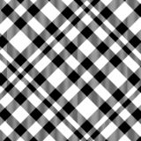 Tartan Seamless Pattern in Black and White . Texture for plaid, tablecloths, clothes, shirts, dresses, paper, bedding, blankets, stock illustration