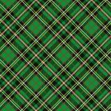 Tartan seamless pattern,diagonal background.Green Stock Image