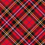 Tartan seamless pattern,diagonal background Royalty Free Stock Images