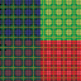 Tartan seamless patterns Royalty Free Stock Image