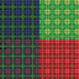 Tartan seamless patterns Royalty Free Stock Image