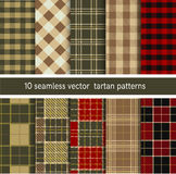 Tartan Seamless Plaid Pattern Collection. Vector Background Set. Stock Image