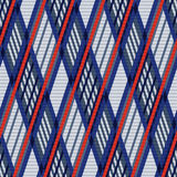 Tartan seamless rhombus texture in blue, red and grey Stock Image