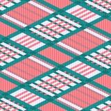 Tartan seamless rhombus texture in light colors Royalty Free Stock Photos