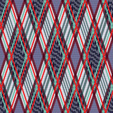 Tartan seamless rhombus texture in many colors Stock Photo