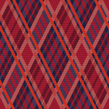 Tartan seamless rhombus texture red and blue Royalty Free Stock Photos