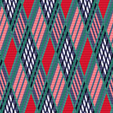 Tartan seamless rhombus texture red and blue Royalty Free Stock Photo