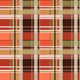 Tartan seamless texture mainly in brown hues Stock Photography