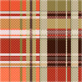 Tartan seamless texture mainly in light brown hues Stock Image