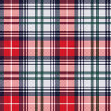 Tartan seamless texture in red and light grey hues Royalty Free Stock Image