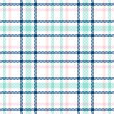 Tartan seamless vector plaid pattern. Checkered plaid texture. Geometrical simple square background for girl female stock illustration