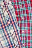 Tartan shirts Stock Image