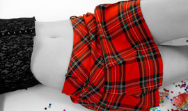 Tartan Skirt. With selective colour Royalty Free Stock Photography