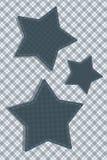 Tartan stylized Stars Stock Image