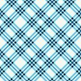 Tartan szkockiej kraty druk W kratkę tkaniny tekstura w rudzika jajecznym błękicie, czerni i śmietance, bezszwowy wzoru ilustracja wektor