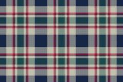 Tartan szkockiej kraty piksla tkaniny klasycznej tekstury bezszwowy wzór Zdjęcie Royalty Free