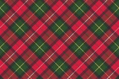 Tartan szkockiej kraty tkaniny diagonalna bezszwowa tekstura Zdjęcia Stock