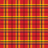 Tartan Texture. Background - Illustration of Red Tartan Fabric Texture / Vector Royalty Free Stock Photo