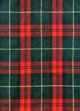 Tartan texture. Close-up of traditional scottish checked material Stock Images