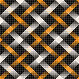 Tartan texture. Brown, orange and white diagonal  tartan fabric texture. Seamless pattern. Vector illustration Stock Image