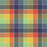 Tartan texture. Multicolor tartan fabric texture. Seamless pattern. Vector illustration Stock Image