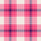 Tartan texture. Pink, blue and white tartan fabric texture. Seamless pattern. Vector illustration Stock Image