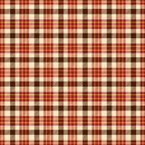 Tartan textured brown and red geometric pattern Royalty Free Stock Images