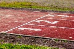 Tartan track start position Stock Photography