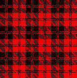 Tartan Wool Material Stock Photo