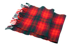 Tartan wool scarf Royalty Free Stock Photography