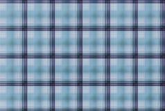 Tartanblåttmodell - plädklädtabell Royaltyfri Bild
