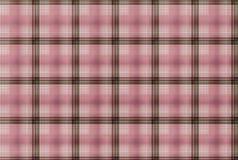Tartanrosa färgmodell - plädklädtabell Arkivbild