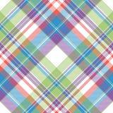 Tartanu koloru szkockiej kraty tkaniny bezszwowy wzór Obraz Stock