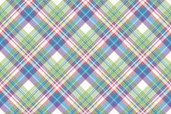 Tartanu koloru szkockiej kraty tkaniny bezszwowy wzór Obrazy Stock