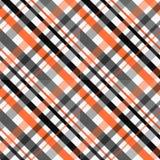 Tartanu wzór, Szkocka tradycyjna tkanina, pomarańcze i czerń, tonujemy tło ilustracja wektor