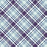 Tartanu wzór w purpurowym i bławym Tekstura dla szkockiej kraty, tablecloths, odziewa, koszula, suknie, papier, pościel, koc, ilustracja wektor