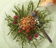 tartar семг rucola поленик Стоковые Изображения RF