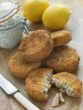 tartar för sås för lax för cakestorskfisk Royaltyfri Fotografi