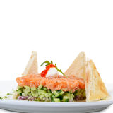 Tartar with salmon and cucumber Royalty Free Stock Photos