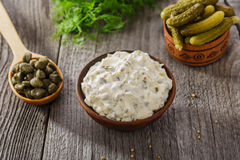 Tartar sauce Stock Photo