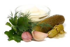 For the tartar sauce with pickles Stock Photos