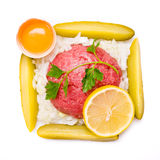Tartar steak Royalty Free Stock Images