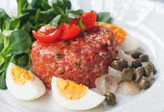 Tartar steak Royalty Free Stock Photos