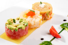 Tartar with tuna fish Stock Photos